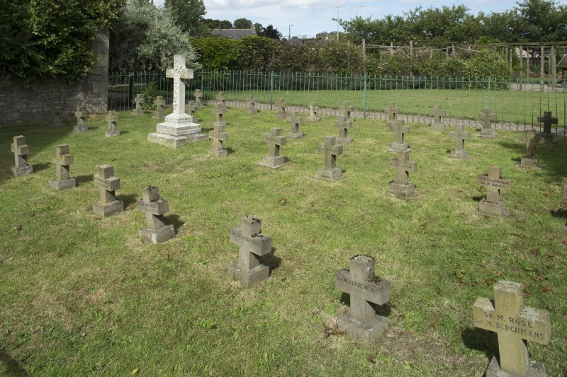 Nuns graveyard at east end of church, view from south west