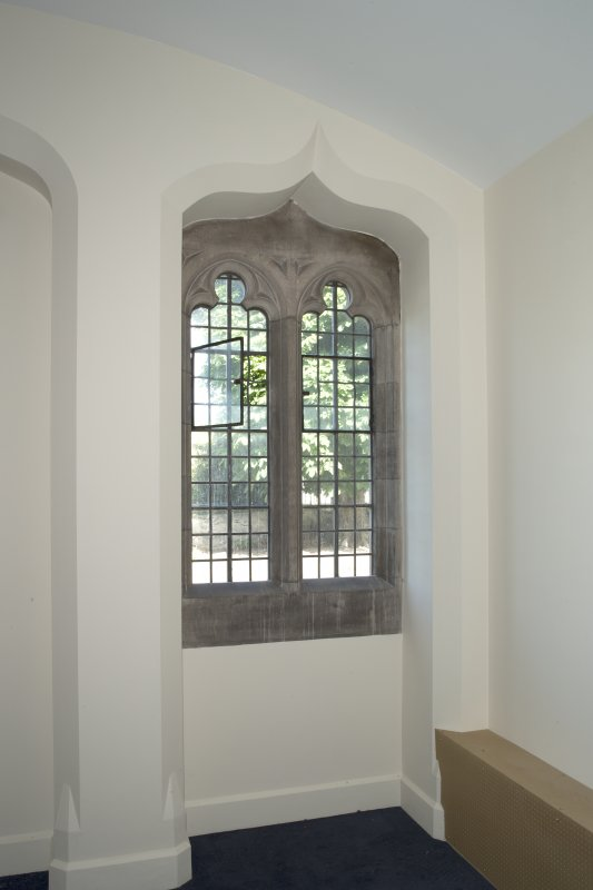 Interior. Ground floor, chapter house, detail of window