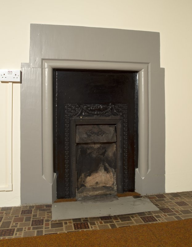 Interior. Ground floor, community wing, central room, detail of fireplace