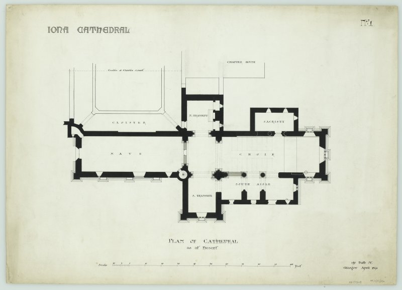 Iona, Iona Abbey. General plan.