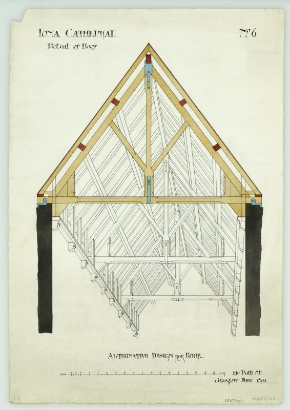 Iona, Iona Abbey. Plan of alternative design for roof.
