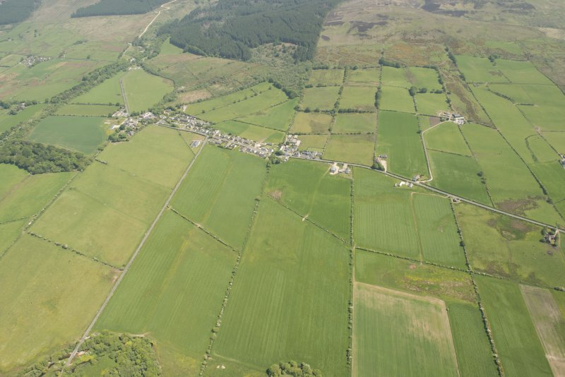 Oblique aerial view of Shiskine, looking to the W.