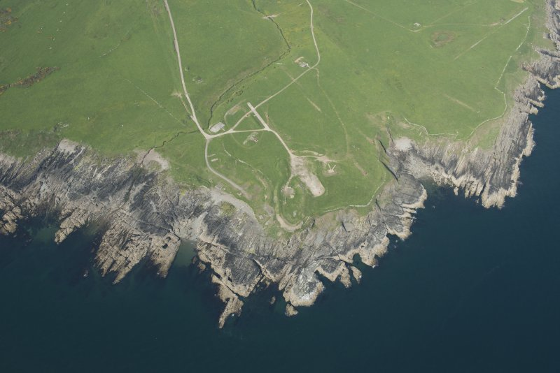 Oblique aerial view of Gipsy Point, looking NE.