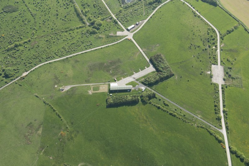 Oblique aerial view of the building and firing position at Silver Hill, looking SW.