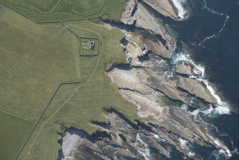 Oblique aerial view of St Mary's Chapel, looking to the WSW.