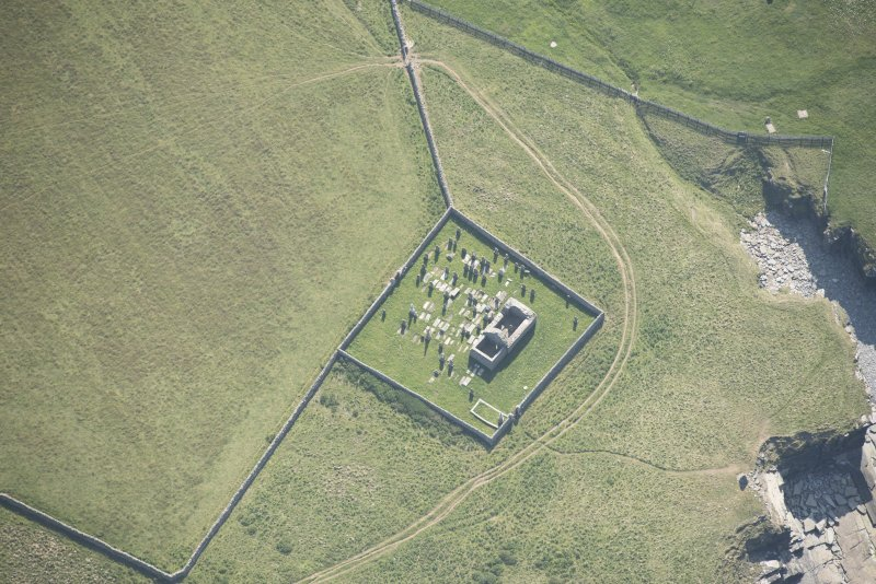 Oblique aerial view of St Mary's Chapel, looking to the SW.
