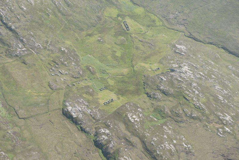 Oblique aerial view of Poulouriscaig, looking to the SE.