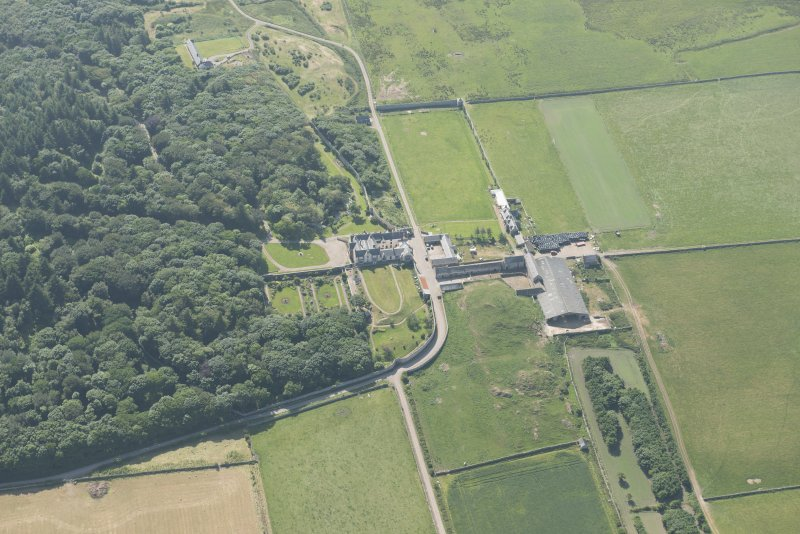 Oblique aerial view of Sandside House, looking to the WSW.