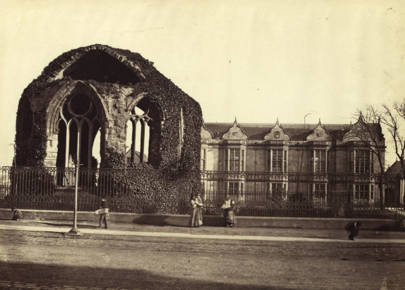View of college from the road. Titled: 'Madras College, St.Andrews'. PHOTOGRAPH ALBUM No 4: INNES OF COWIE ALBUM
