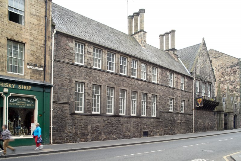 General view of front elevation of Moray House, 174 Canongate, Edinburgh, from NE.