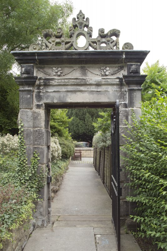 General view of 17th-century Garden Gateway, Moray House, 172 Canongate, Edinburgh, from SW.