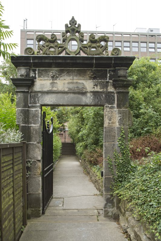 General view of 17th-century Garden Gateway, Moray House, 172 Canongate, Edinburgh, from NE.