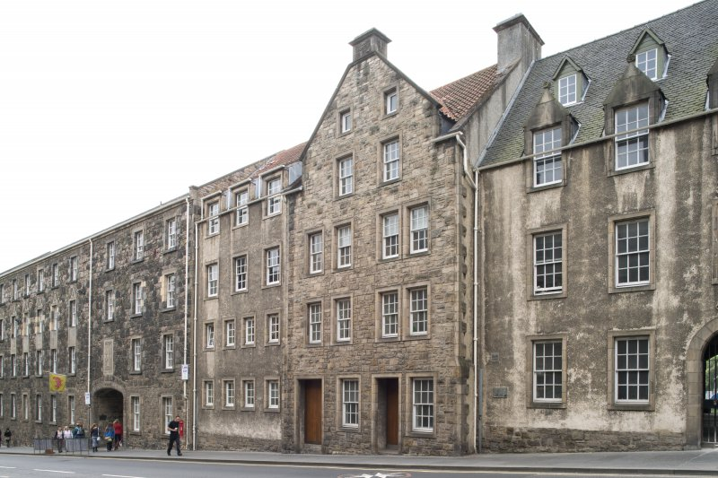 General view of 186, 188 and 190 Canongate, Edinburgh, from NW.