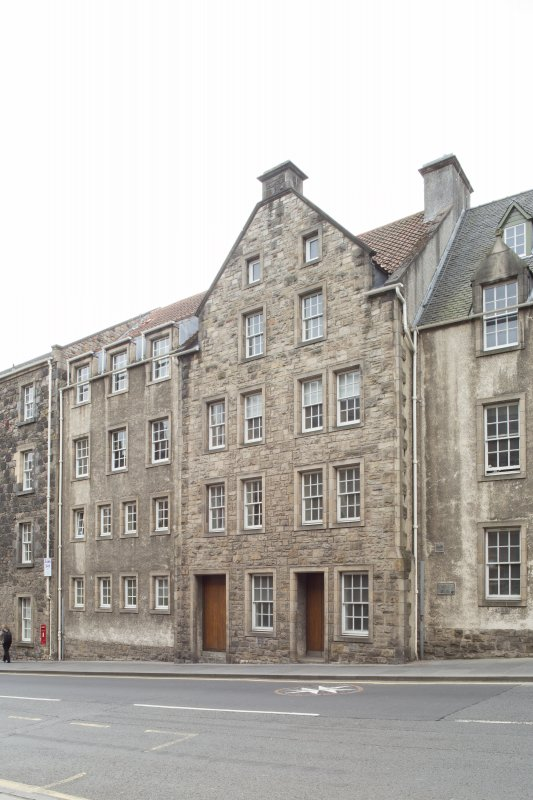 General view of 186, 188 and 190 Canongate, Edinburgh, from N.