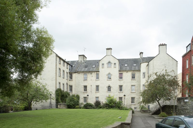 General view of 3-6 Chessel's Court, 240 Canongate, Edinburgh, from NW.