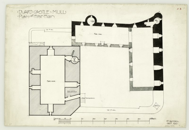 Plan of first floor of Duart Castle, Mull.