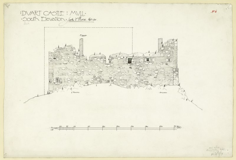 Elevation of Duart Castle, Mull.