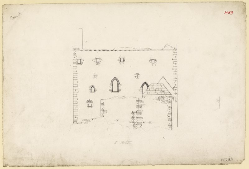 East elevation of Carrick Castle.