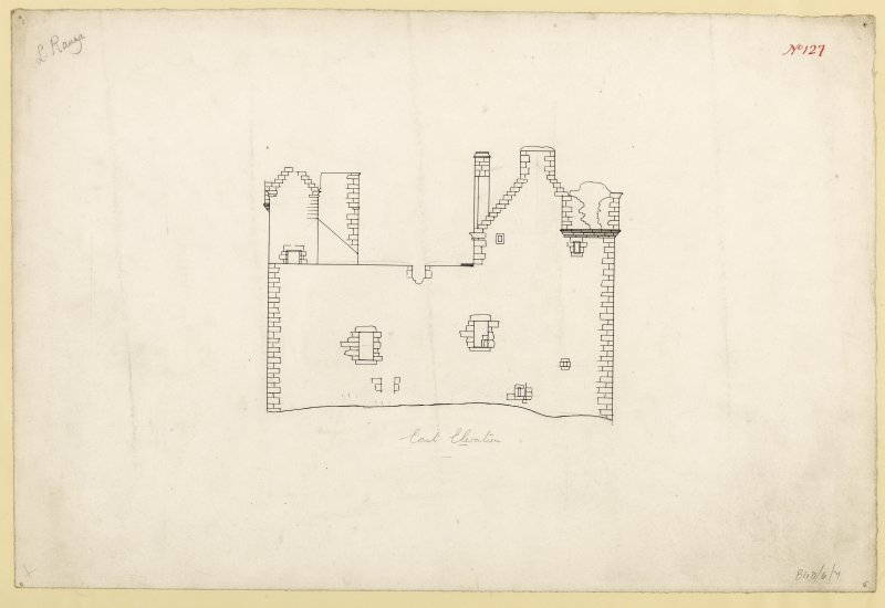 East elevation of Lochranza Castle.