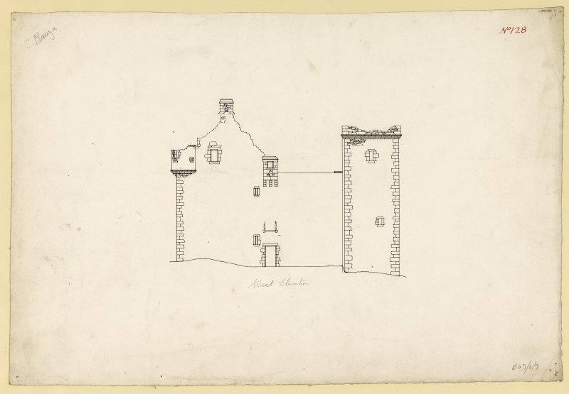 West elevation of Lochranza Castle.