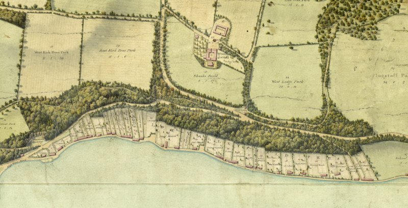 Detail of plan of the Valleyfield Estate.