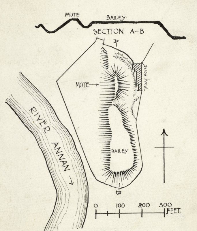 Publication drawing: Motte of Annan.