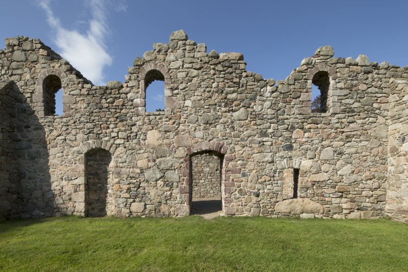 South wall showing doorways and window openings.
