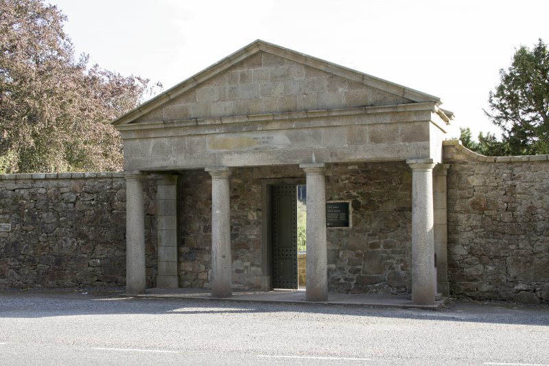 Entrance portico from north.