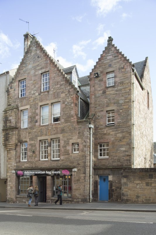 General view of Nisbet of Dirleton's House, 82-84 Canongate, Edinburgh, from NW.