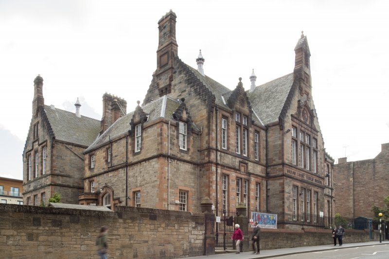 General view of Milton House School, 86 Canongate, Edinburgh, from NE.