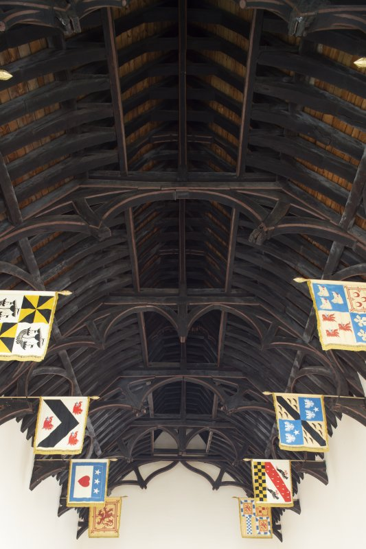 Ground floor. Hall. Hammerbeam roof