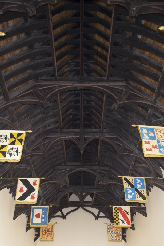 Ground floor. Hall. Hammerbeam roof.