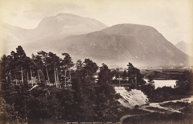 View of Ben Nevis Titled 'Ben Nevis from near Banavie,1639 J.V.' PHOTOGRAPH ALBUM No.33: COURTAULD ALBUM.