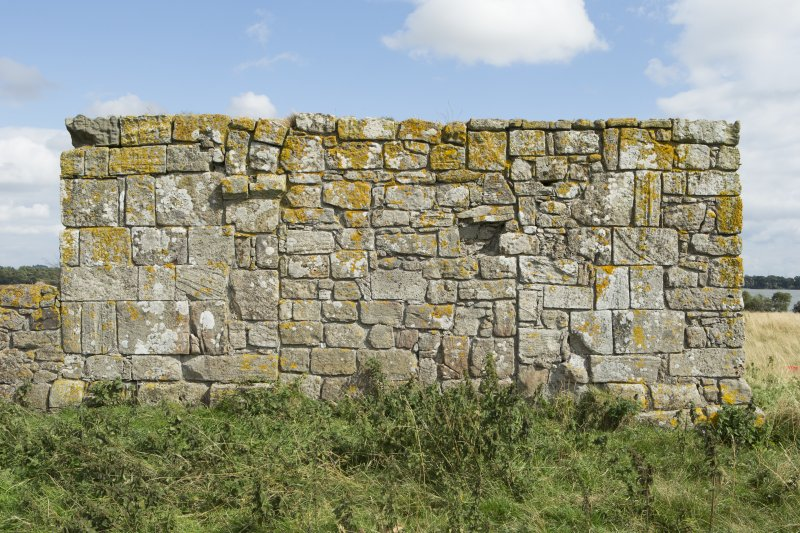 View of west wall of priory church showing blocked arch