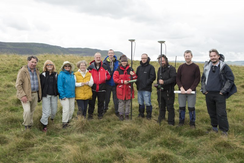 Group photo of RCAHMS staff and volunteers