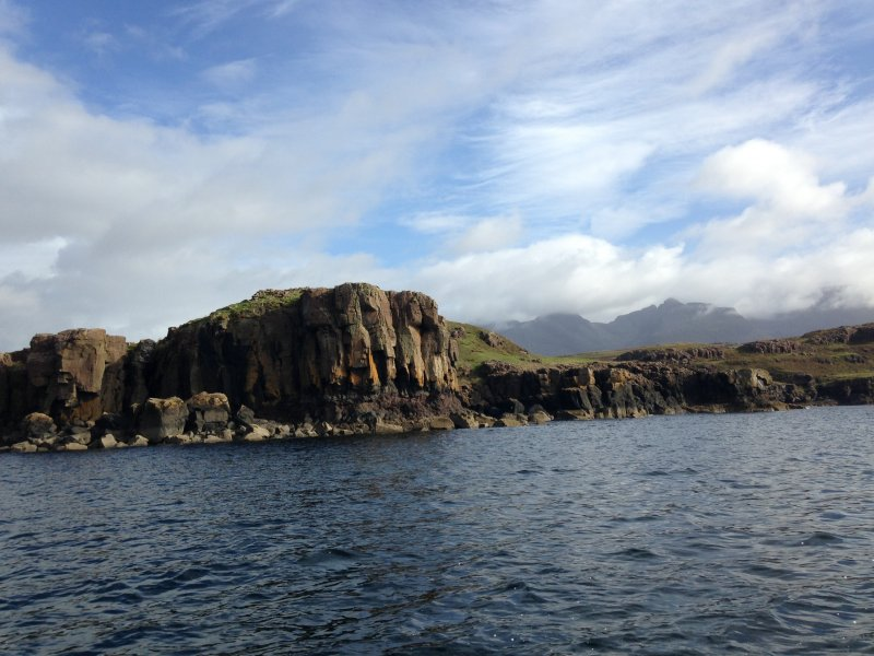 View of dun from the sea.