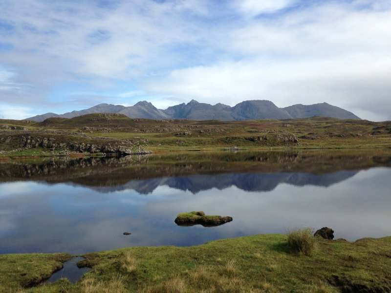 General shot from Loch na h-Airde to the Cuillin.