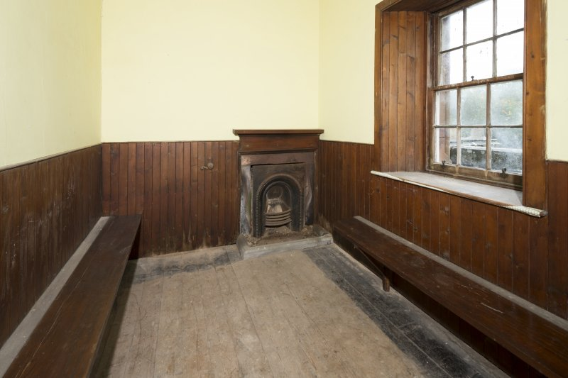 Fourth Floor General view of Observatory showing benches and fireplace.