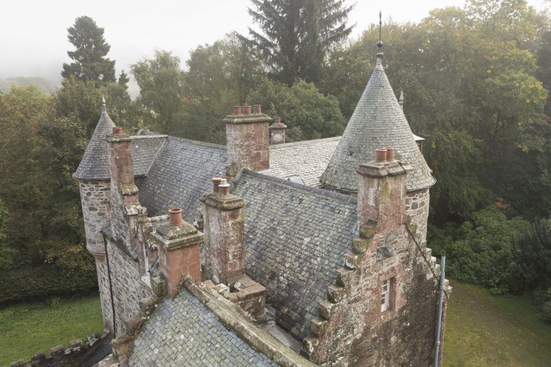 General view of roof from Observatory looking east.