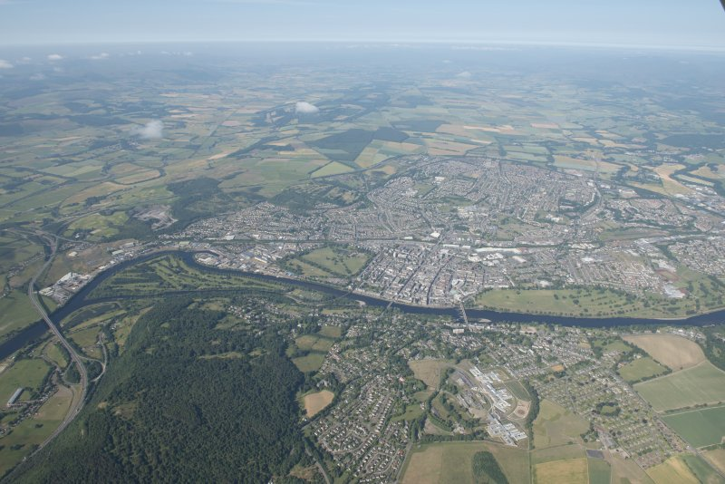 General oblique aerial view of Perth, looking WSW.