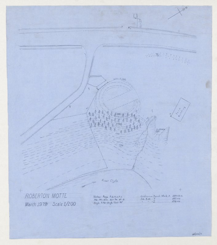 Plan of Roberton motte