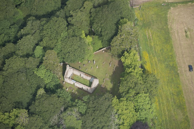 Oblique aerial view of St Mary's Church, looking to the NNW.