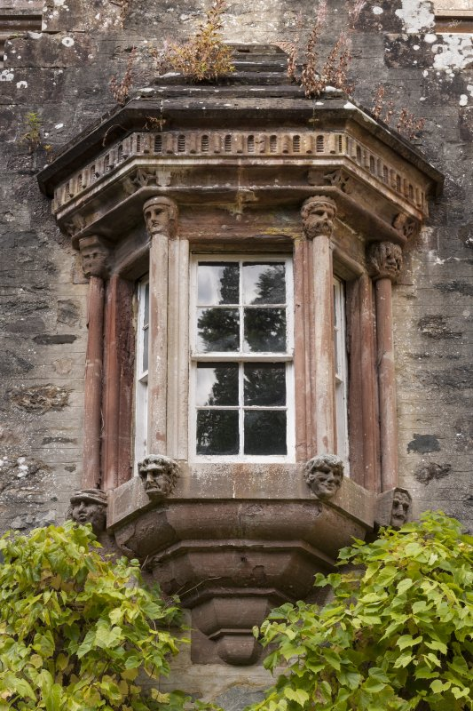 Detail of Oriel Window on South east face.
