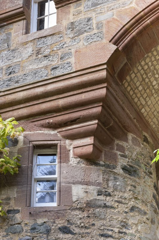 Detail of corbels at archway.