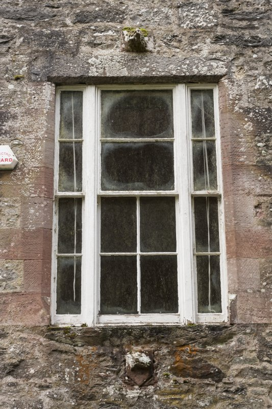 Detail of North east wall showing Studio window.
