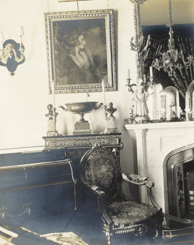 Interior view of Balmacaan House. Titled: 'The little drawing room'. PHOTOGRAPH ALBUM No.32: BALMACAAN ALBUM.