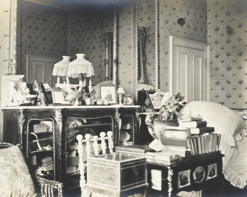 Interior view of Balmacaan House. Titled: 'Another view of my bedroom. PHOTOGRAPH ALBUM NO 32: BALMACAAN ALBUM