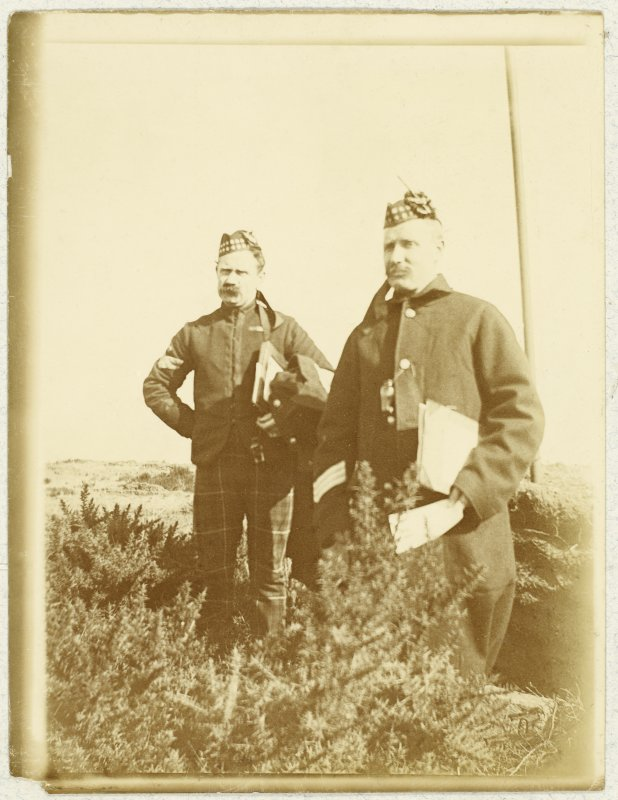 View of two unidentified soldiers. PHOTOGRAPH ALBUM NO 32: BALMACAAN ALBUM