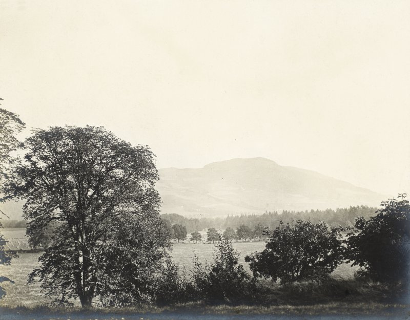 Landscape view Titled 'View from the front door' PHOTOGRAPH ALBUM No.32: BALMACAAN ALBUM.