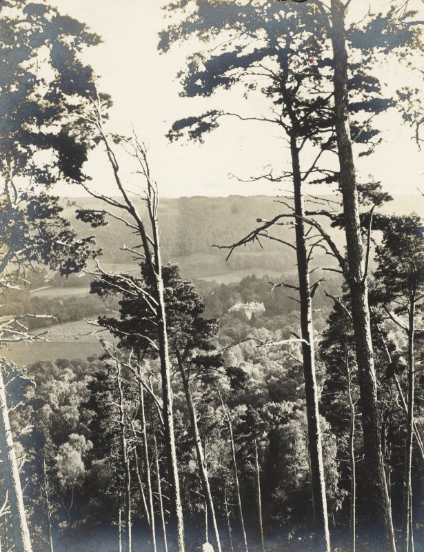 Distant view of house. Titled 'Balmacaan taken from the Rock' PHOTOGRAPH ALBUM No.32: BALMACAAN ALBUM.